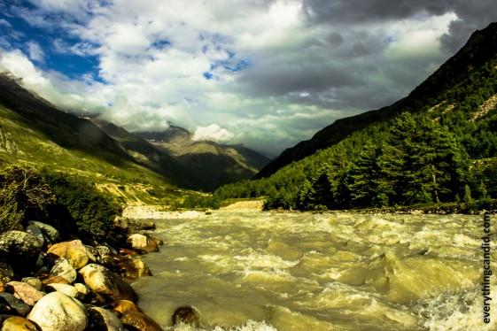River, Baspa, Himalaya, Chhitkul,