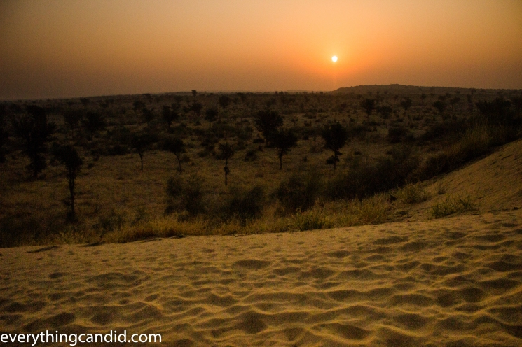 Sun Rise from Sand Dune