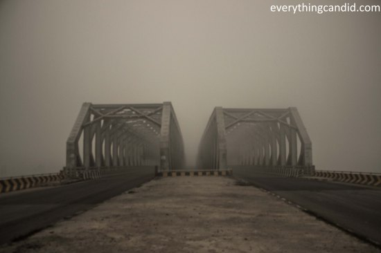 Canal Over Bridge near Bharatgarh: Due to Fog it looked like too awesome to capture!