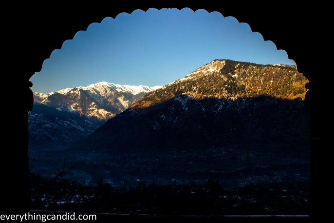 VIew of Himalayan Peaks from nagagr Castle!