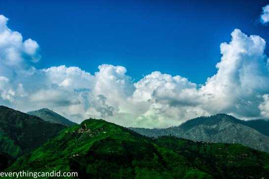 Cloud over Himalaya range in Kinnaur Valley representing the natural wanderism.