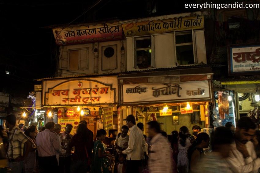 Sarafa Bazaar, Indore, Joshi, Sabudana, Bhutte Ka Kiss, Indore, India, Street Food, Food Street