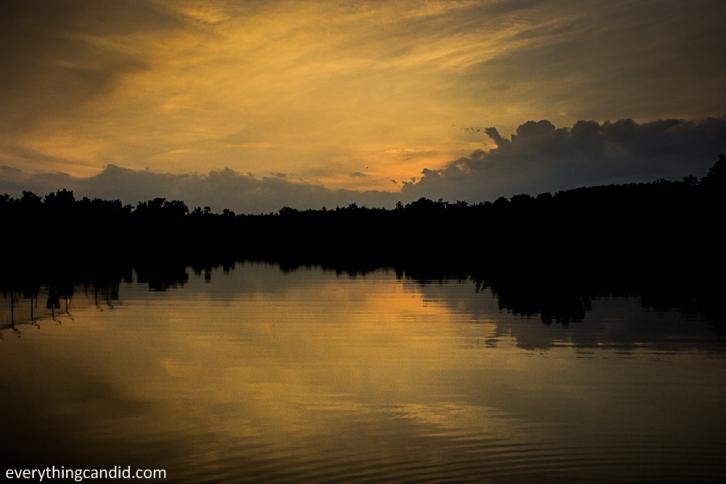 Golden Hour Shot of the Lake next to Hareli Resort in Barnawapara