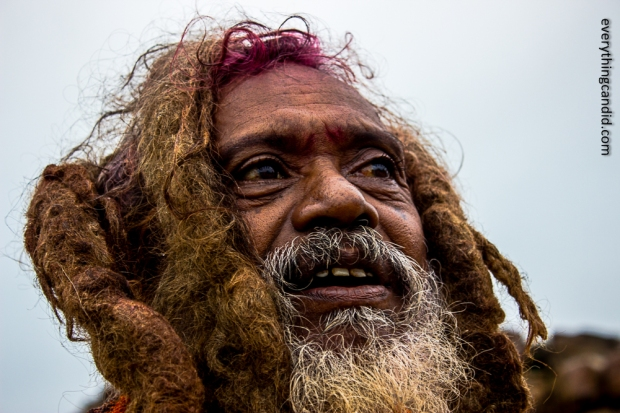 A Sadhu Baba at Chitrakote Fall: His face speaks thousand words.