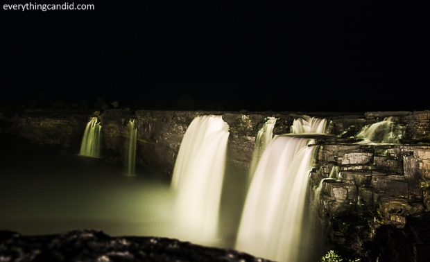 Chitrakote Fall in late evening: Long exposure shot.