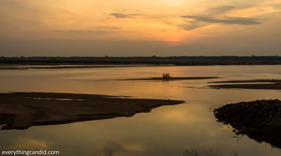 Mahanadi in Sirpur, Chhattisgarh, india