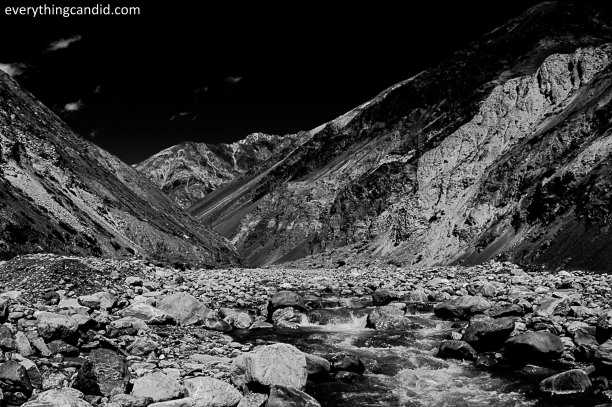 Giu River. This small tributary of SPiti offers splendid cneic beauty all the way upto Giu Village which home to 500 years old Mummy of a Lama