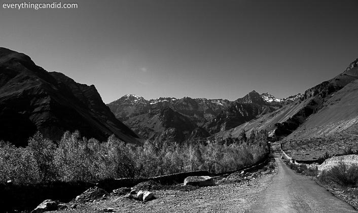 Near Lari Village in Spiti Village.