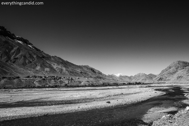 Wide open Spiti Valley near Kaza!