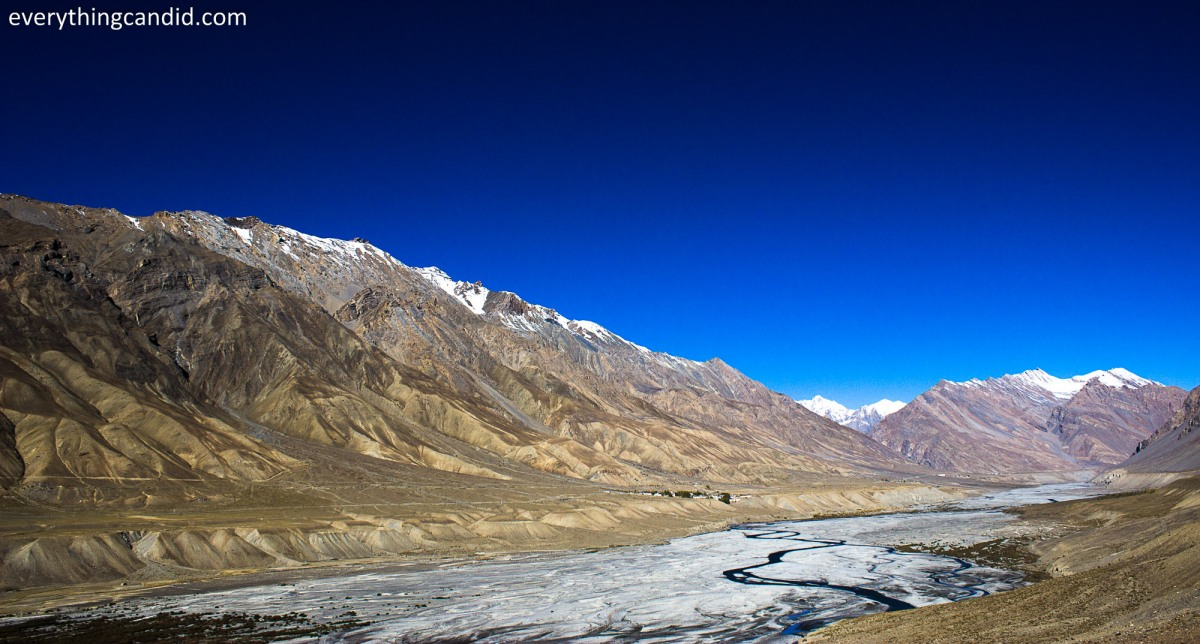 Spiti Valley in himachal, Himalayan. Kaza, Spiti river.