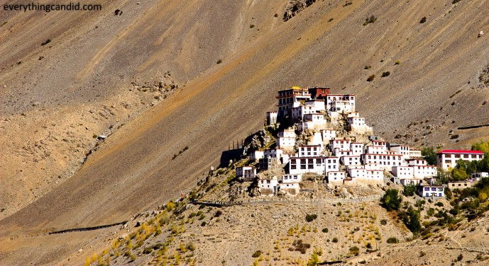 Key Monastery from other other side of Spiti: 6 KM from Kaza on the road to Kunzum