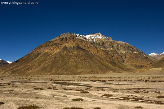 Spiti Valley with all shades of brown, Green and orange!