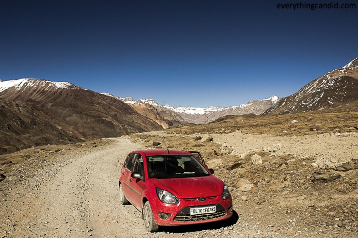 My Hatchback finally conqured Kunzum Pass