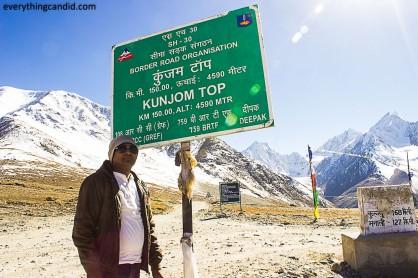 Kunzum Top. Spiti, Lahaul, Rpad Trip, Himalaya, Hatchback