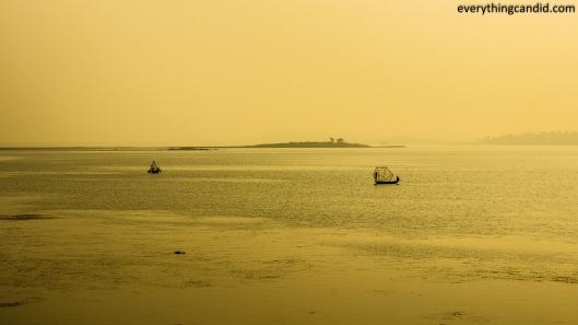 Fishing and Boaating landscpae shot some where near Jhansi during Road Trip to Madhya Pradesh.