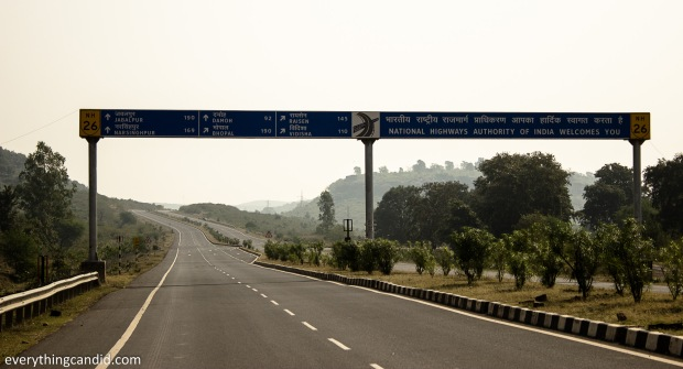 NH 26 from Gwalior to Narsinghpur via Sagar. ROad to Bhedagath near Jabalpur.
