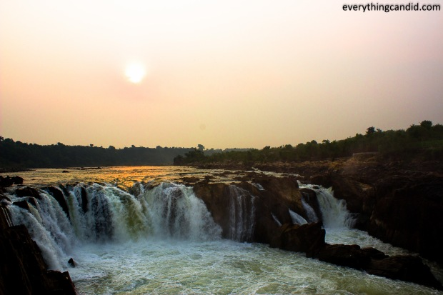 Golden Hour Shot of Dhuandhar Fall in Bhedaghat, Jabalpur on Narmada RIver.