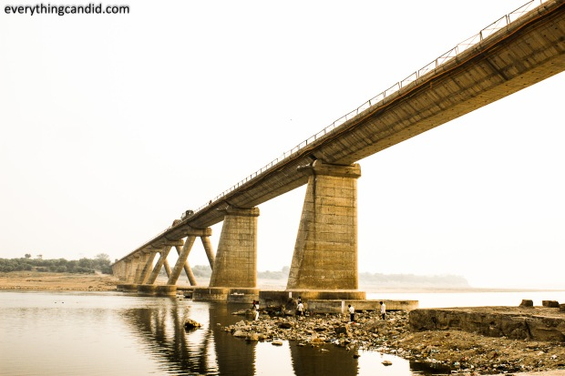 Bridge on Chambal RIver, near Gwalior and Dholpur.