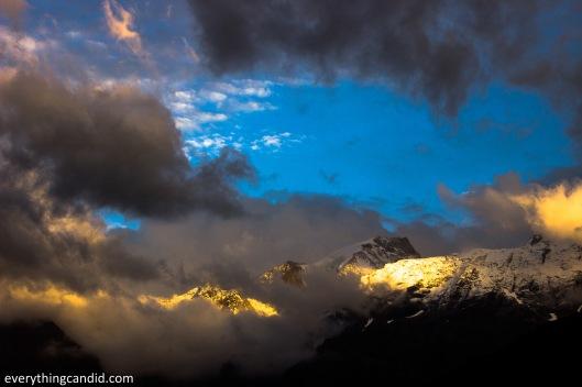 Kinnaur,  Kinner Kailash near Kalpa shot from Roghi village. Himachal Pradesh on the way to SPiti valley.