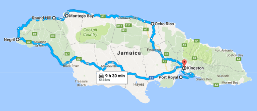 jamaica - the pirate route