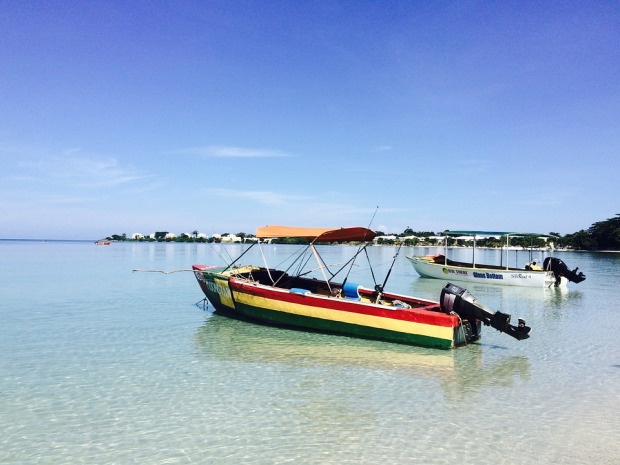 Beach Negril Jamaica Boat