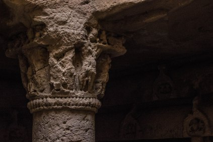 The carvings in the Buddhist Caves