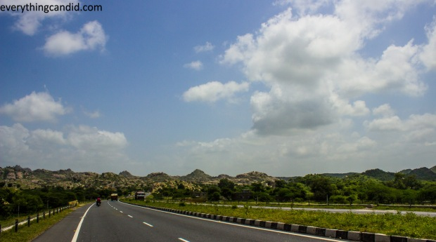 Road to Jodhpur from Jaipur. Road trip in Rajasthan.
