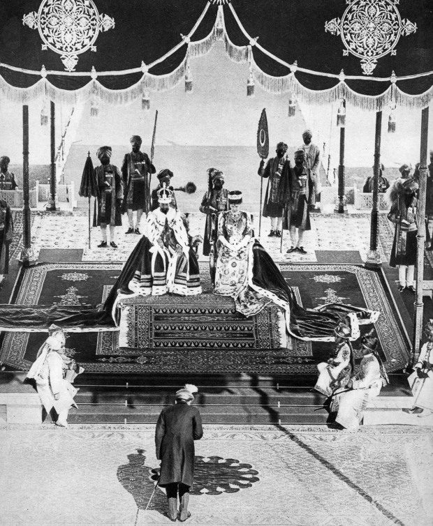 The Nizam of Hyderabad pays hommage at the Delhi Durbar, 1911, (1935).