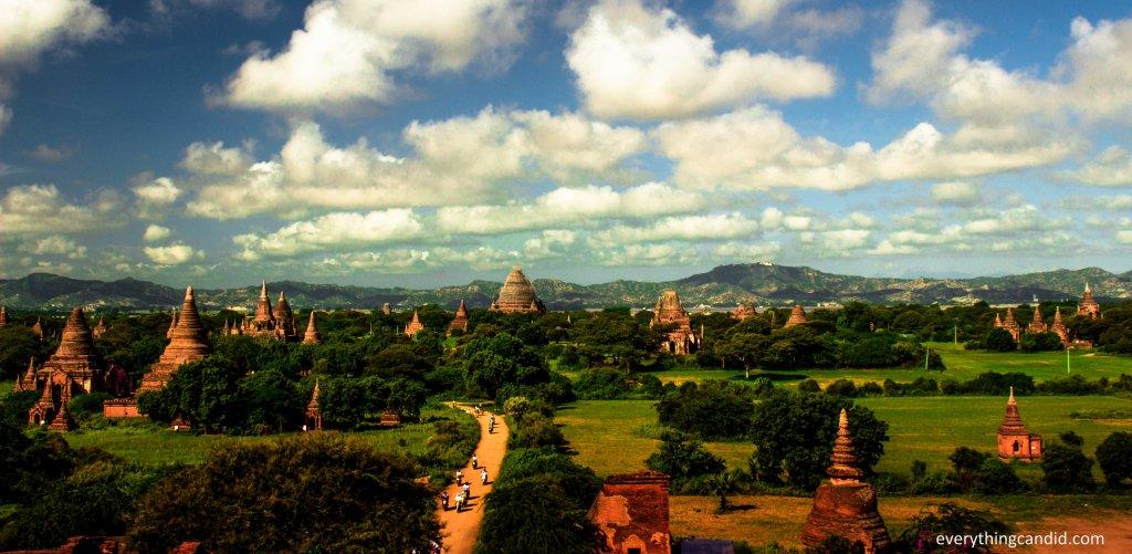 Bagan Landscape. Pagora of Bagan, Myanmar.