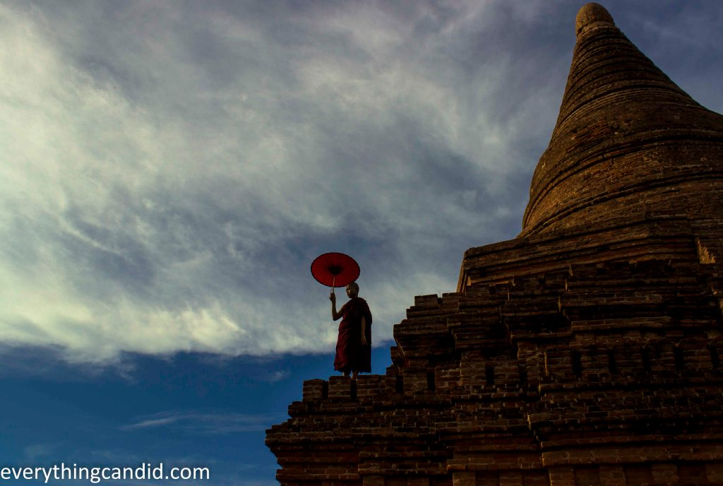 Bagan. Monk. Photograph.